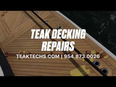 Teak Decking Repairs & Marine Carpentry