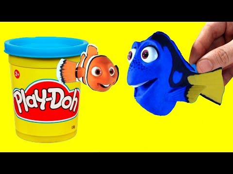 Finding Nemo and Dory stop motion clay animation fun for kids