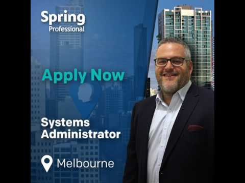 Now Hiring a Systems Administrator