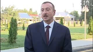 İlham Əliyevin Ağcabədi rayon ictimaiyyətinin nümayəndələri ilə görüşü