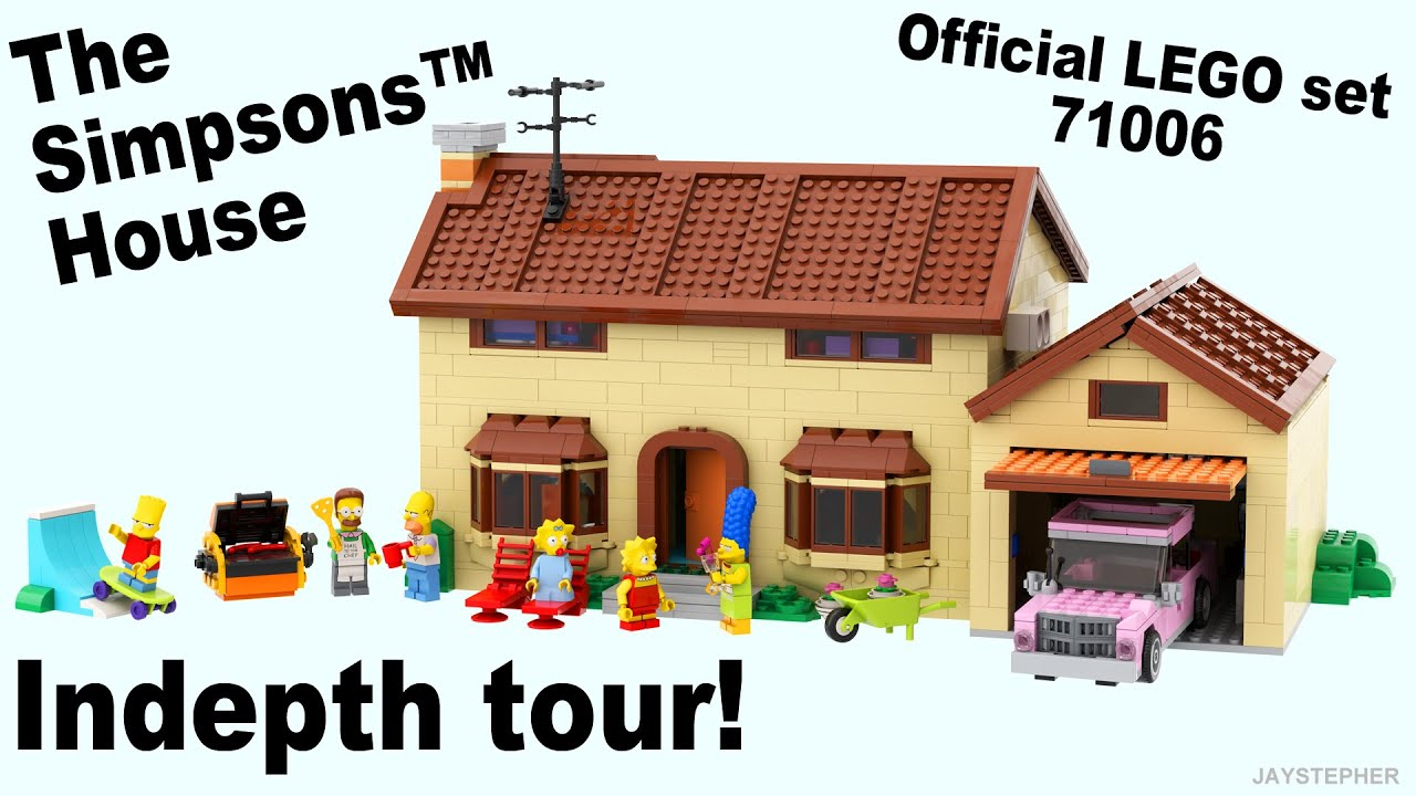 Lego Simpsons House 71006 Unboxing And Exploration Youtube