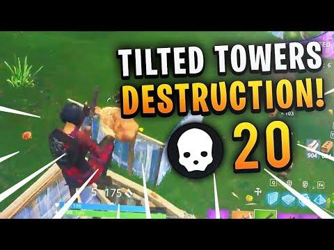 Brush - TILTED TOWERS DESTRUCTION! 20 KILLS! (Fortnite Battle Royale Full Match)