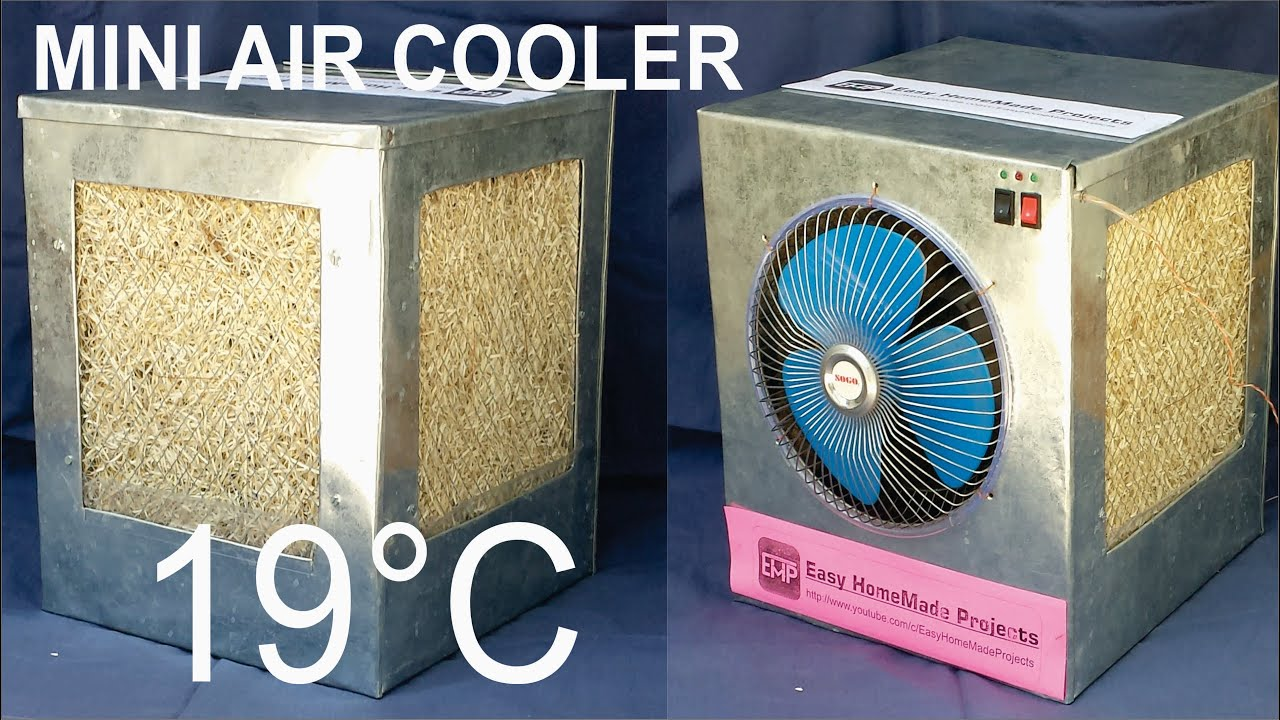 6dcbf2248 How to make an AIR COOLER at home - YouTube