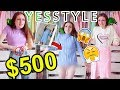 $500 YESSTYLE CLOTHING HAUL AND TRY ON!!! CHEAP KOREAN FASHION HAUL 2018