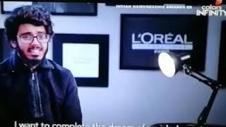 Farhan irfani India Hairdressing Award 2016-17