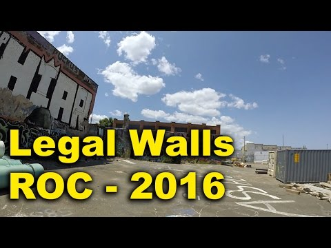 Legal Walls Graffiti - ROCHESTER NY 2016