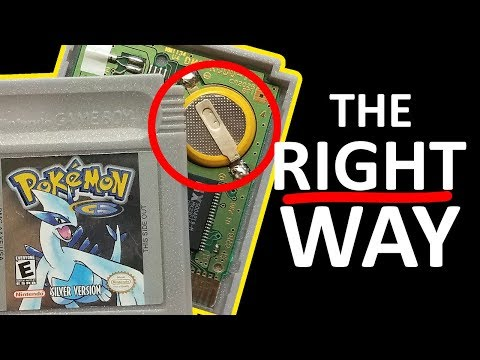 The RIGHT Way To Replace Gameboy Cart Batteries
