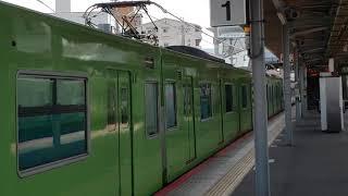 201系普通 久宝寺駅発車
