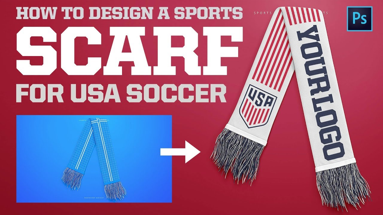 How To Use The Football Soccer Sports Scarf Mockup Design Tutorial