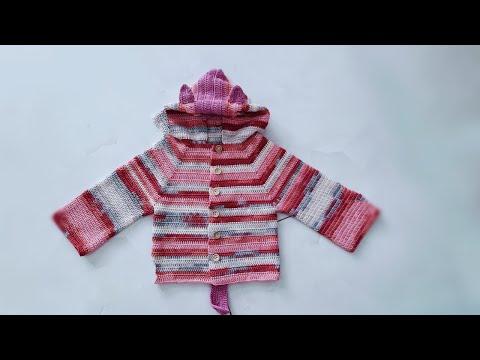 Hướng Dẫn Móc áo Khoác Cho Bé | How To Crochet Coat For Baby (Part 1/2)