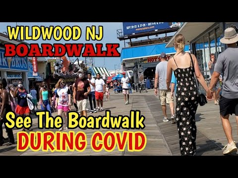 Walking At Wildwood New Jersey Boardwalk | Beach |  Morey's Piers | Family Travel