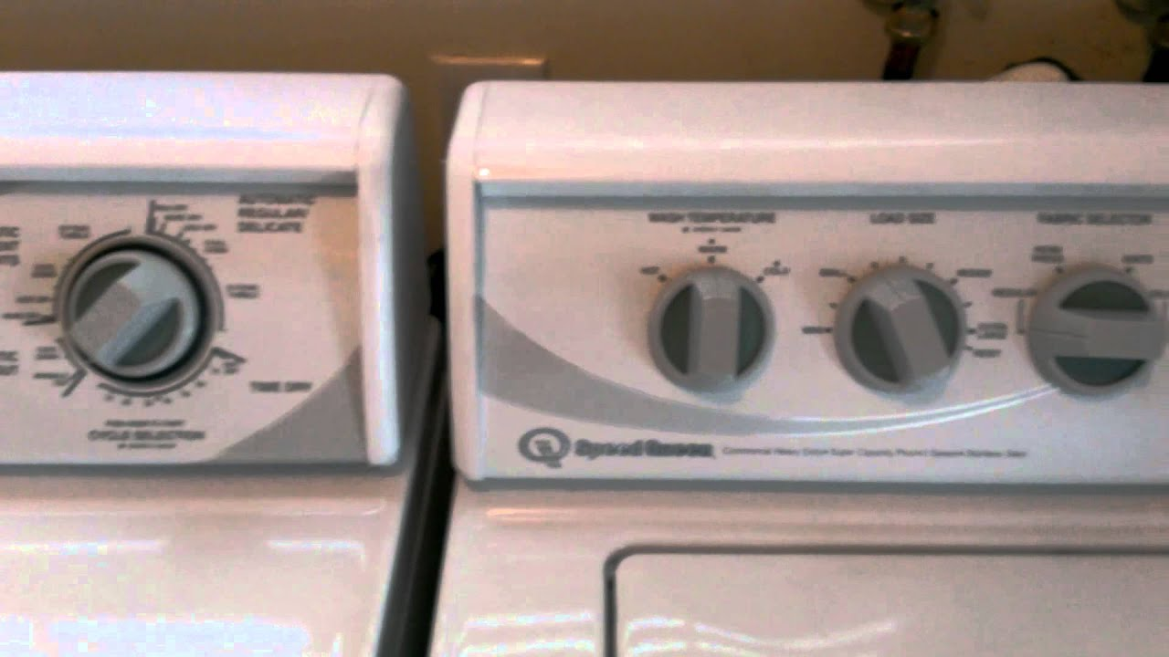 Speed Queen Washer And Dryer Green Knobs Mp4 Youtube