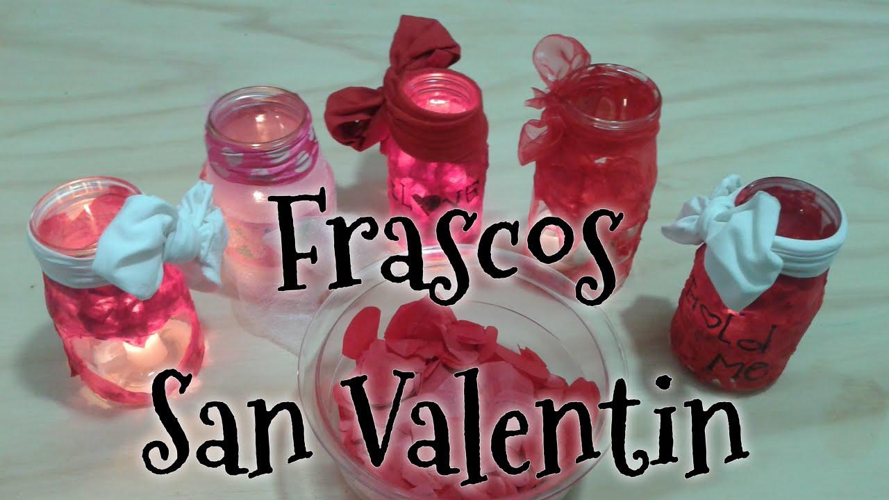 Diy frascos san valentin decoracion 14 de febrero youtube for Decoracion para pared san valentin