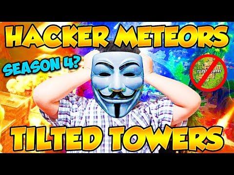 HACKER DESTROYS TILTED TOWERS WITH SEASON 4 METEOR COMET! (Funny Fortnite Trolling)