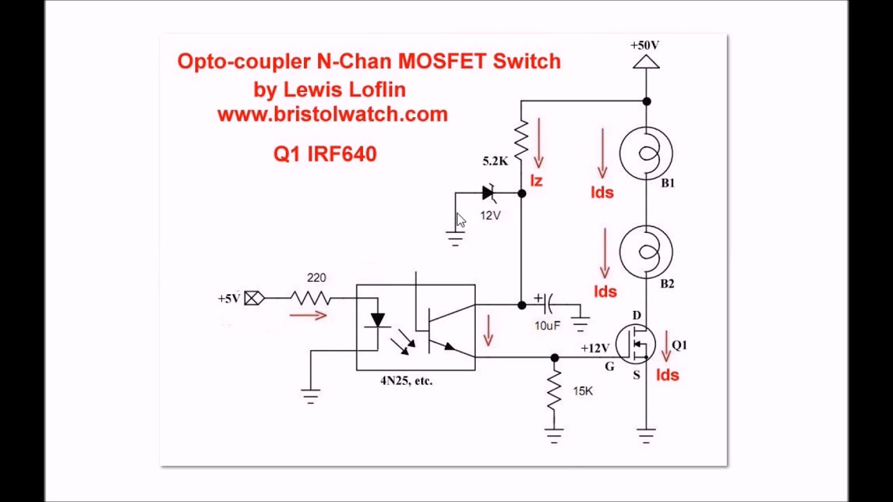 High Voltage Mosfet Switch Tutorial Youtube 1000w Power Amplifier With Circuit Schematic Diagram
