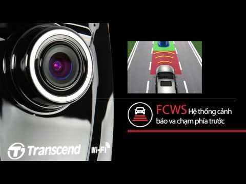[100mph] Camera hành trình Transcend DP220 tích hợp GPS, Wifi