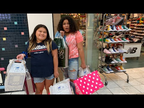 Back to School Shopping at the Mall - Shopping for Backpacks and Shoes