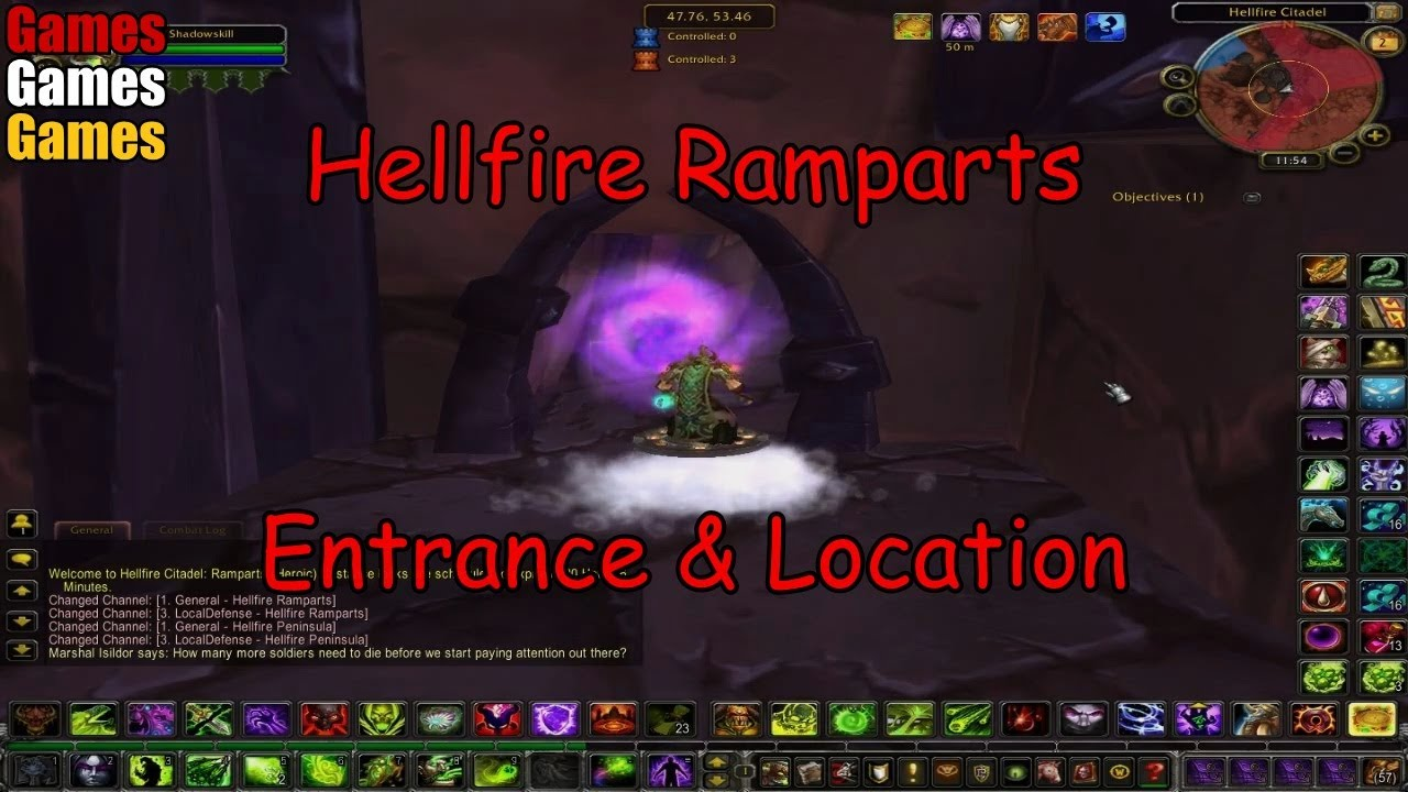 Hellfire Ramparts Entrance & Location World of Warcraft ...