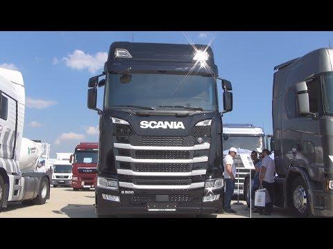 Scania S 500 A4x2LA Ebony Black Tractor Truck (2017) Exterior And Interior In 3D
