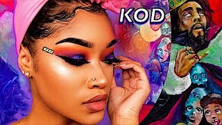 J. Cole Album KOD Inspired Makeup Tutorial (Bri Hall)