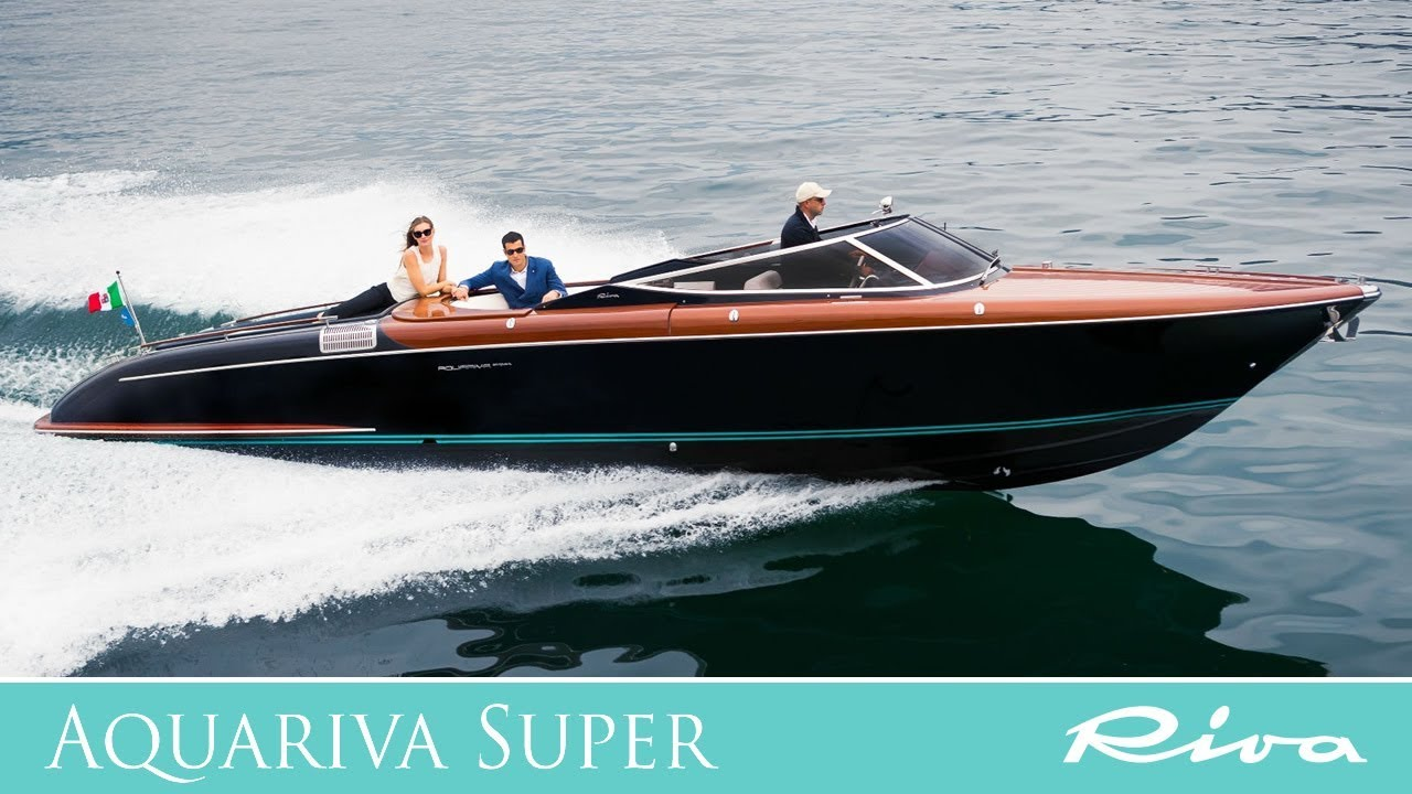 Luxury Yacht   Riva Aquariva Super   Ferretti Group   YouTube