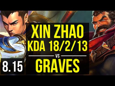 XIN ZHAO vs GRAVES (JUNGLE) ~ KDA 18/2/13, Legendary ~ Korea Master ~ Patch 8.15