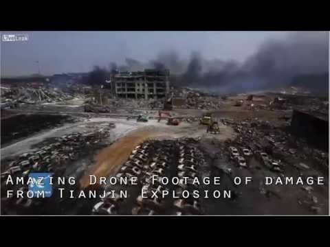 AMAZING DRONEVIDEO | DISTRUCTION FROM TIANJIN EXPLOSION