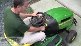 John Deere LA115 Lawn Tractor Controls Intro