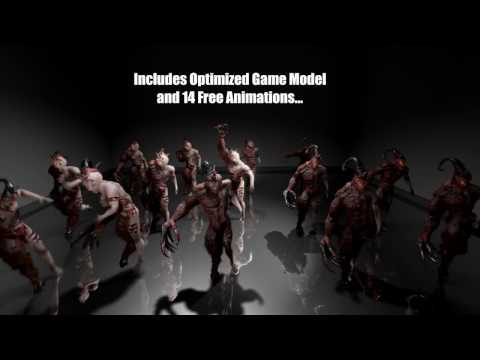 Free Horror Game Monster + Animations (Unreal Engine 4, Unity   Any Game  Engine)