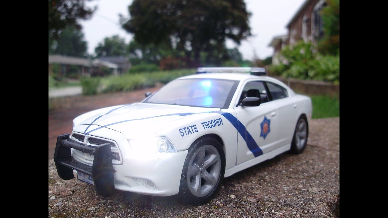 gabriels custom  arkansas state police dodge charger  working lights youtube