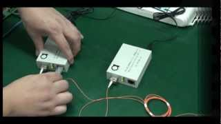 SFP module slot 10/100/1000 Gigabit Ethernet fiber media converter testing scenario