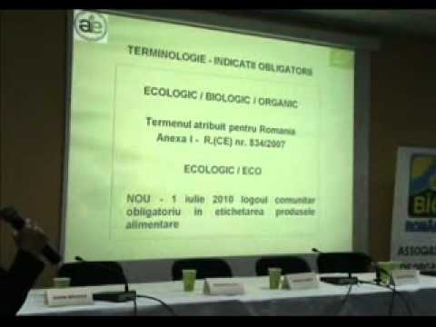Daniela Rebega consilier ministerul agriculturii la Romanian Organic Forum 2010