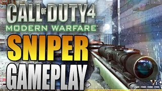Nine Lives - Sniper FFA Gameplay on Vacant - Call of Duty 4 Modern Warfare Multiplayer Gameplay COD4