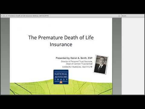 Trust Education: The Premature Death of Life Insurance by National Advisors Trust Company