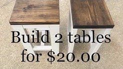 DIY | How to make 2 tables for $20.00 | Living room end tables