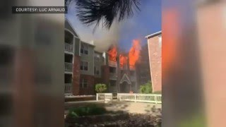 Denver apartment fire, explosions caught on video
