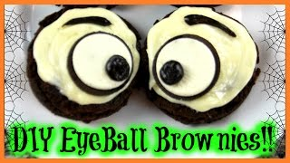 Easy Halloween Snack Idea | Eyeball Brownies!!