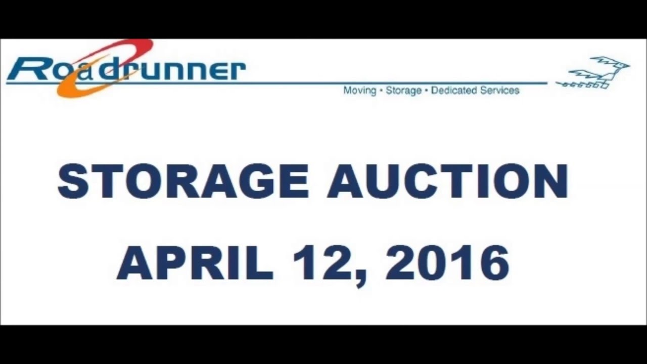 Storage Auction Houston Texas Roadrunner Moving And