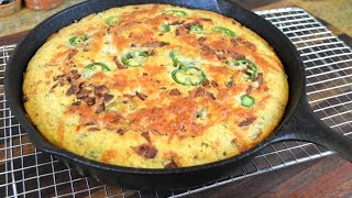 Bacon, Jalapeno & Cheese Skillet Cornbread Recipe Cooking With Carolyn