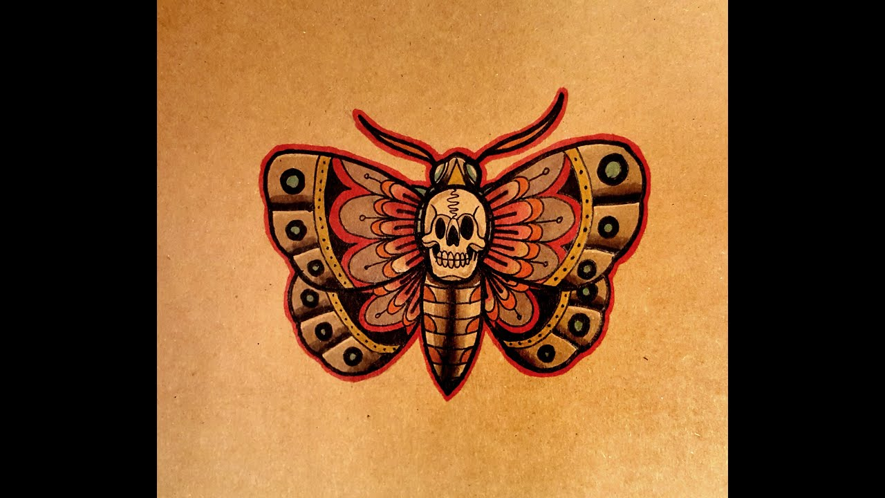 Moth Tattoo Lantern And