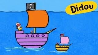 Le bateau pirate - Didou dessine-moi un bateau pirate S02E27 HD