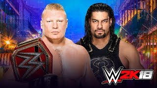 WWE WrestleMania 34 Brock Lesnar vs Roman Reigns