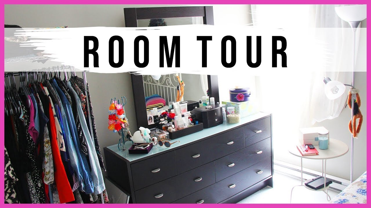 Room Tour | Small Bedroom Storage Ideas - YouTube