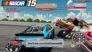 best longer extreme crashes in a circle simulator nascar 15 the game part 3