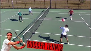 INTENSE SOCCER TENNIS MATCH!