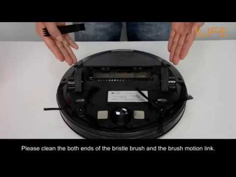 How to clean the bristle brush   ILIFE A4/s Robot Vacuum