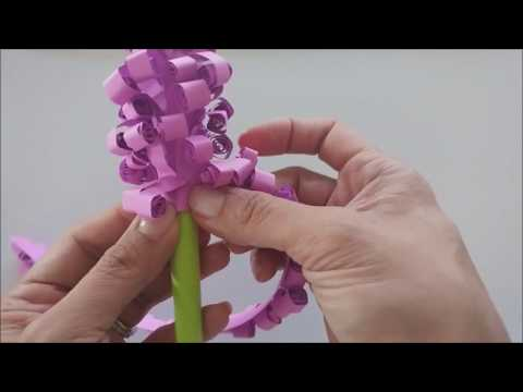 Easy DIY Craft: How to Make Curled Hyacinth Paper Flowers