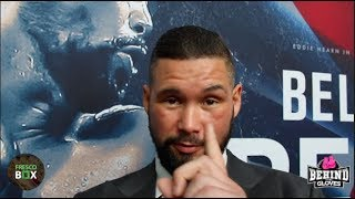 TONY BELLEW IMMEDIATE REACTION TO DAVID HAYE PRESS CONFERENCE/PROMISES REPEAT WIN ON MAY 5TH
