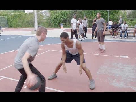 Professor hooping in North Philly with...