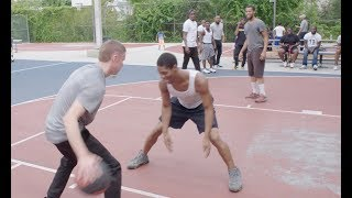 Professor hooping in North Philly with streetball legend AO
